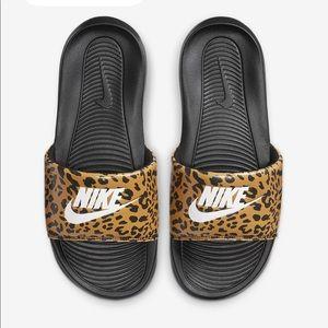 NWT Nike Leopard Print Slides